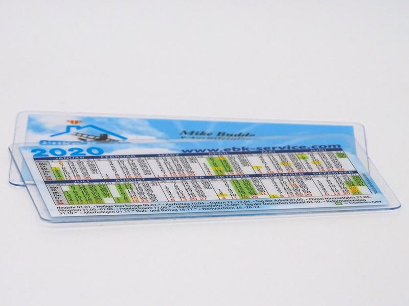 Taschenkalender in Scheckkartengröße